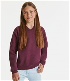 RUSSELL CHILDRENS V-NECK SWEATSHIRT