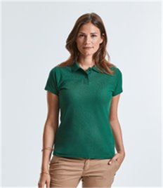 RUSSELL LADIES 65/35 PIQUE POLO