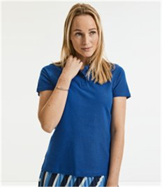 RUSSELL LADIES 100% COTTON POLO