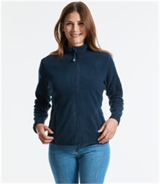 RUSSELL LADIES FITTED FULL ZIP MICROFLEECE
