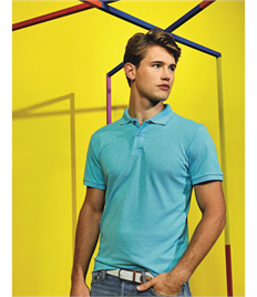 ASQUITH AND FOX MENS TWISTED YARN POLO