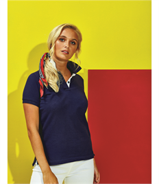 ASQUITH AND FOX LADIES CONTRAST POLO