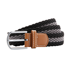 ASQUITH AND FOX TWO COLOUR STRIPE BRAID STRETCH BELT