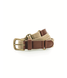 ASQUITH AND FOX FAUX LEATHER AND CANVAS BELT