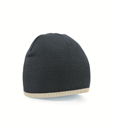 BEECHFIELD TWO-TONE ACRYLIC KNITTED HAT