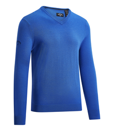 CALLAWAY RIBBED V-NECK MERINO SWEATER