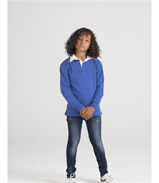 FRONT ROW KIDS L/S PLAIN RUGBY SHIRT