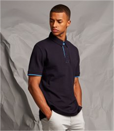 FRONT ROW MENS CONTRAST PIQUE POLO