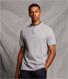 FRONT ROW STAND COLLAR STRETCH POLO SHIR
