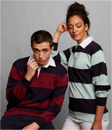 FRONT ROW SEWN STRIPE L/S RUGBY SHIRT