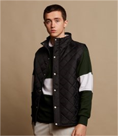 FRONT ROW MENS DIAMOND QUILT GILET