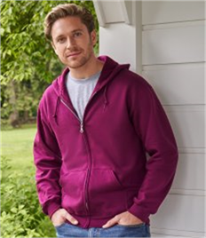 GILDAN ADULT HEAVY BLEND FULL ZIP HOODED SWEATSHIRT