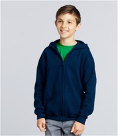 GILDAN KIDS HEAVY ZIP HOODED SWEAT