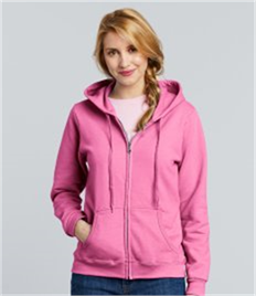 GILDAN LADIES FULL ZIP HOODED SWEAT