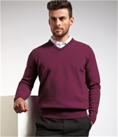 GLENMUIR g.LOMOND LAMBSWOOL V-NECK SWEATER