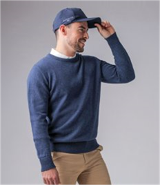 GLENMUIR g.MORAR LAMBSWOOL CREW NECK SWEATER