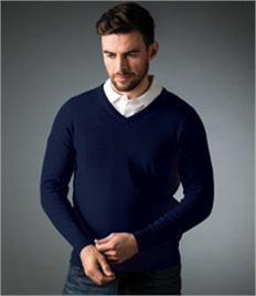 GLENMUIR g.EDEN COTTON V-NECK SWEATER