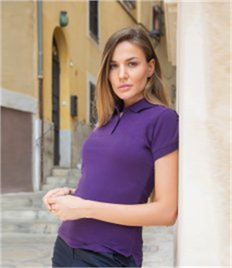 HENBURY LADIES STRETCH PIQUE POLO