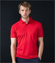 HENBURY MENS STRETCH POLO SHIRT WITH WICK FINISH