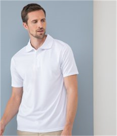 HENBURY COOLTOUCH TEXTURED STRIPE POLO