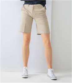 HENBURY LADIES TEFLON CHINO SHORTS