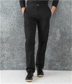 HENBURY TEFLON COATED FLAT FRONTRED CHINO TROUSERS
