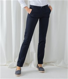 HENBURY LADIES 65/35 FLAT FRONT CHINO