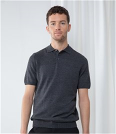 HENBURY MENS KNITTED S/S POLO