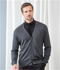 HENBURY MENS V BUTTON CARDIGAN