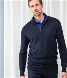 HENBURY MENS 1/4 ZIP JUMPER