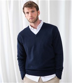 HENBURY V NECK LAMBSWOOL JUMPER