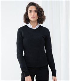 HENBURY LADIES CASHMERE VNECK JUMPER