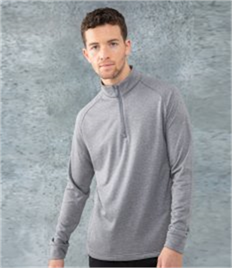 HENBURY 1/4 ZIP TOP WICKING FINISH
