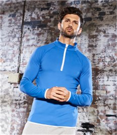 JUST COOL BY AWDIS MENS COOL 1/2 ZIP SWEAT