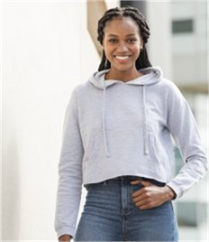JUST HOODS BY AWDIS GIRLIE CROPPED HOODIE
