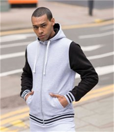 JUST HOODS BY AWDIS URBAN VARSITY JACKET