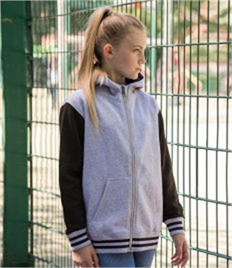 JUST HOODS BY AWDIS KIDS URBAN VARSITY ZOODIE