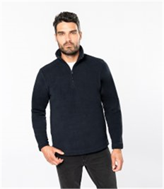 KARIBAN ENZO ZIP NECK MICROFLEECE JACKET