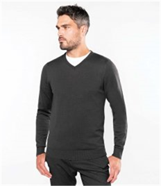 KARIBAN MENS V NECK JUMPER
