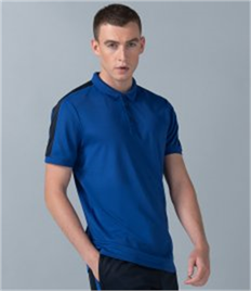 FINDEN & HALES ADULTS CONTRAST PANEL POLO