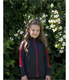 FINDEN & HALES KIDS KNITTED TRACKSUIT TOP