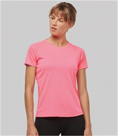 KARIBAN LADIES SHORT SLEEVED SPORT T-SHIRT