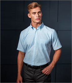 PREMIER MENS SHORT SLEEVE SIGNATURE OXFORD SHIRT