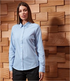 PREMIER LADIES MAXTON CHECK LONG SLEEVE SHIRT