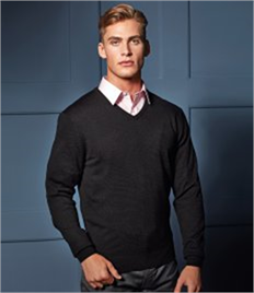 PREMIER ESSENTIAL MENS V-NECK SWEATER