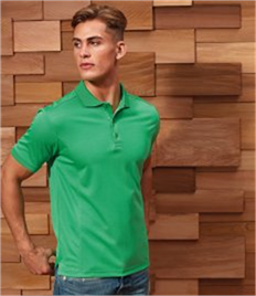 PREMIER MENS COOLCHECKER PIQUE POLO