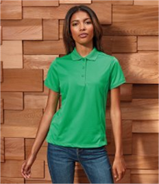 PREMIER WOMENS COOLCHECKER PIQUE POLO