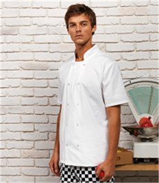 PREMIER CHEFS SHORT SLEEVE STUD JACKET