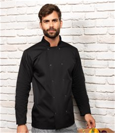 PREMIER STUDDED FRONT L/S CHEF JACKET