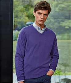 PREMIER MENS KNITTED V-NECK SWEATER